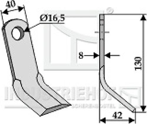 Y-Messer Mulchmesser 63-NOB-16 passend für Kuhn, Nobili, Orsi, Vogel & Noot, Wiwexa Mulcher