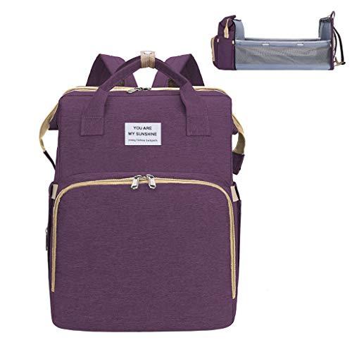 Boji Mochila para pañales de bebé, bolsa para pañales, portátil, para cuna, pañales, mochila para cochecito, correas