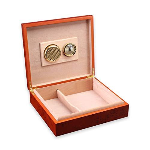 シガーボックス シガーボックス、シダーウッド加湿器と湿度計で作る小型葉巻キャビネット、専門的なストレージ葉巻タバコボックスメンズギフトボックスは20葉巻を保持することができます 完璧な贈り物