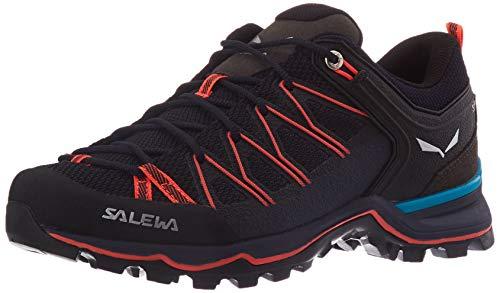 Salewa Damen WS Mountain Trainer Lite Trekking-& Wanderstiefel, Premium Navy/Fluo Coral, 39 EU