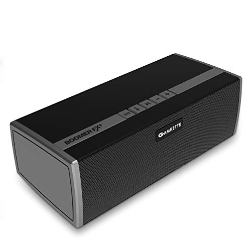 Amkette BoomerFx Plus Wireless Bluetooth Speaker, 12 Watts Output, 16+ Hours Play Time & Rich and Balanced Sound (USB/SD Card/Aux/FM and Power Bank Function)