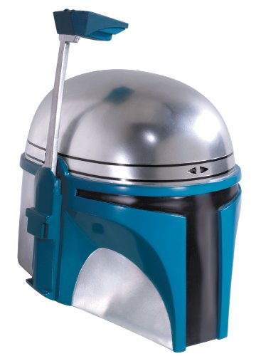 Jango Fett Mens Star Wars Collectors, Full Overhead One-Piece Adult Mask Helmet