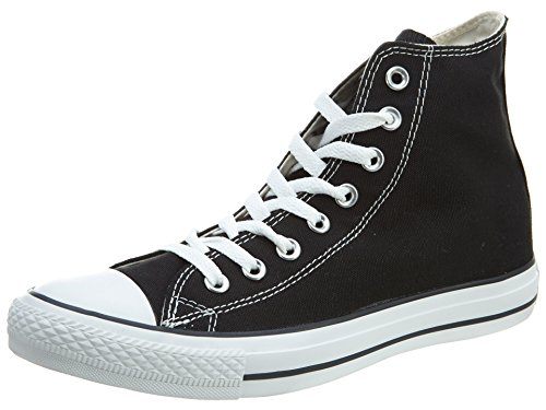 Converse Clothing & Apparel Chuck Taylor All Star Canvas High Top Sneaker, Black/White, 12 Women/10 Men
