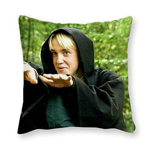 Draco Malfoy Cojín – Pop Art – Funda de almohada de lona individual – sin almohadilla de relleno – 40 x 40 cm (solo la funda)