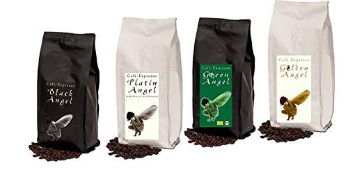 """Espresso Probier Paket Cafe / Kaffeebohnen 4 x 150 g ganze Bohne \""""4 Engel für Crema\"""""""