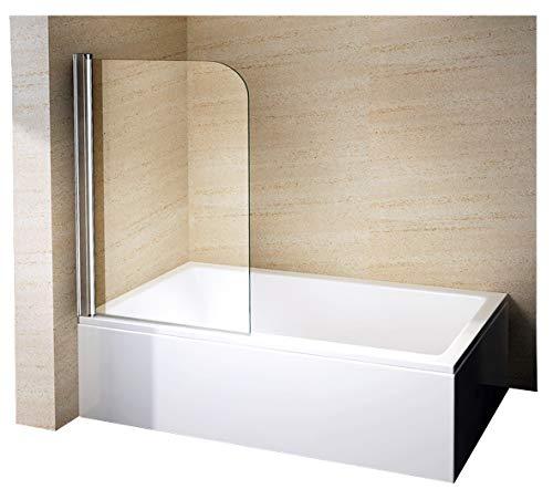 Bernstein Badshop Duschabtrennung Duschwand Spritzschutz Badewanne 6 mm Nano Badewannenaufsatz Badewannenaufsatz EX201-80 x 140 cm