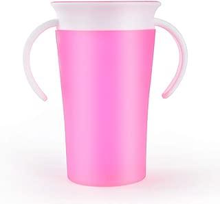 Azul Caja fuerte para la taza con doble asa Botella agua 360 grados girada Bebe infantil Leakproof Trainning Alimentar Flip Tapa