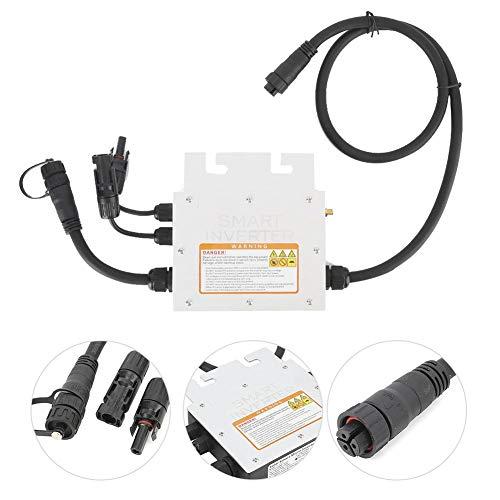 Solar Wechselrichter,SG350MS Solar Inverter Solar Wechselrichter LED Anzeige Micro Grid Tied IP65 wasserdicht 350W mit Empfänger,Solar Wechselrichter mit Netzanschluss,Solarwechselrichter(120V)
