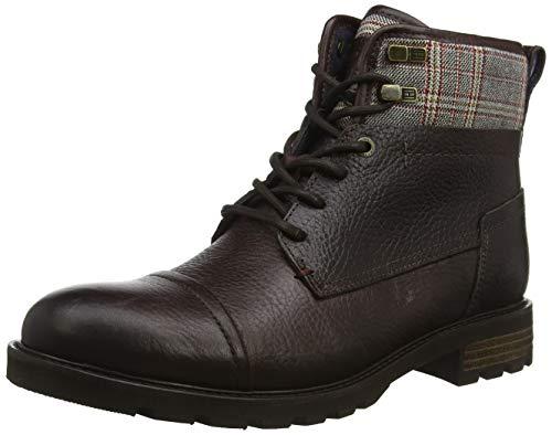 Tommy Hilfiger Herren Winter Leather Textile Mix Boot Klassische Stiefel, Braun (Coffee Bean 212), 45 EU