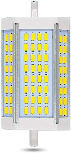 Ampoule R7S LED 118mm 30W Dimmable, 3000LM, Blanc Chaud 3000K, Équivalent Crayon Halogène R7S J118 200W 300W, 200 Degrés de Lumière, Lampe R7S 118mm Dimmable LED pour Applique/Lampadaire/Projecteur