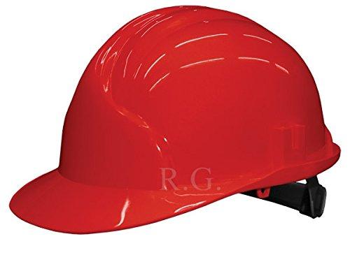Unbekannt Bauarbeiterhelm Schutzhelm Bauhelm Schutzhelme Helm EN 397 53-61 cm 6 Farben (Rot)
