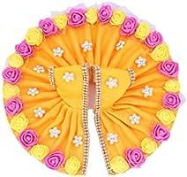 Geetanjali Handmade Laddu Gopal ji/Krishna ji Designer Dress with Artificial Flower, AD(American Diamond) & Pearl...