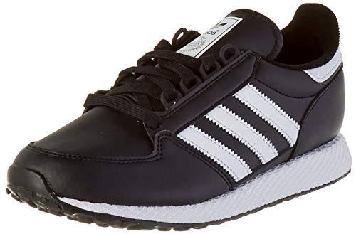 adidas Forest Grove J, Basket, Core Black/Core Black/Core Black, 36 2/3 EU