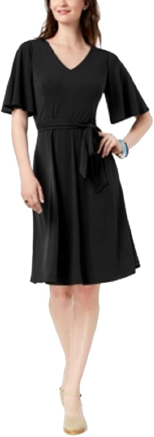 Charter Club Petite Belted ALine Dress
