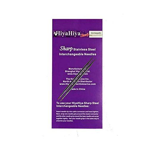 HiyaHiya Interchangeable Needle Tips 5 inch (13cm) Sharp Steel Size US 3 (3.25mm) HISSTINTIP5-3