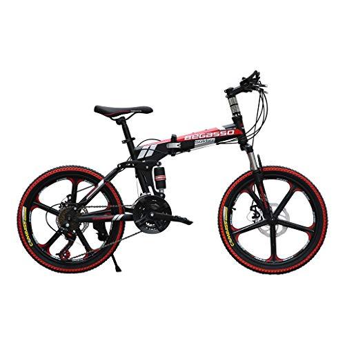 ODJOY-Fan-home 20 Pollici Leggero Mini Bici Pieghevole Piccola Bicicletta Portatile Studente Adulto...