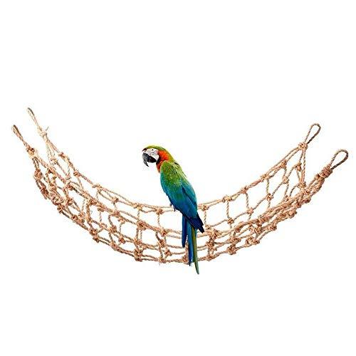 Tnfeeon 1PCS Rete da Arrampicata per pappagalli, pappagalli di Medie Dimensioni di Grandi Dimensioni Corda di Canapa appesa Altalena Gioco di Uccelli
