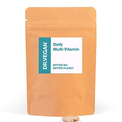 DR.VEGAN Daily Multi-Vitamin, 60 Vegan-Friendly Capsules | Two-A-Day