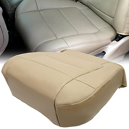 ECOTRIC Driver Side Bottom Seat Cover Leather Tan Compatible with 2001 2002 2003...
