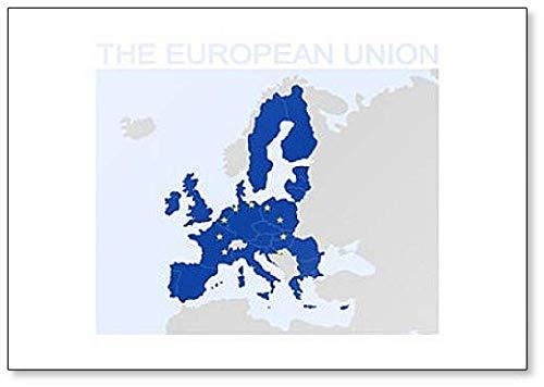 Kaart van de Europese Unie Illustratie Koelkast Magneet