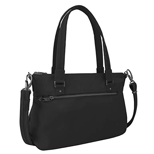 Travelon Women's Anti-Theft Tailored Satchel, Onyx, One Size