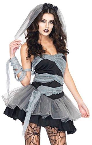 sepolte vestito cosplay sposa femminile cadavere piombo costumi aimerfeel-sexy Halloween decorazioni di Halloween e costume del partito di fantasia, zombie vestito operato da Halloween, formato 38-40