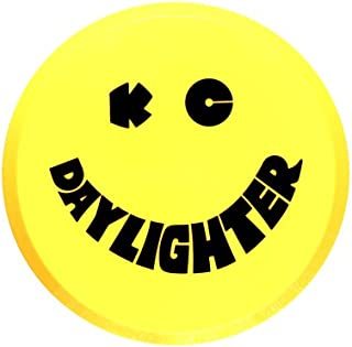 "KC HiLiTES 5202 6"" Round Yellow Plastic Light Cover w/ Black KC Daylighter Logo - Single Cover"
