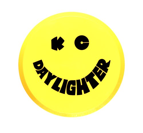 """KC HiLiTES 5202 6"""" Round Yellow Plastic Light Cover w/ Black KC Daylighter Logo - Single Cover"""