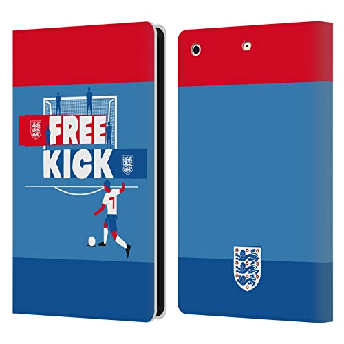 Official England National Football Team Free Kick Player Kids Leather Book Wallet Case Cover Compatible For Apple iPad mini 1 / mini 2 / mini 3