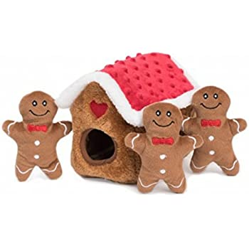 CHRISTMAS Dog Toy, Zippy Burrow Interactive Puzzle. Gingerbread House