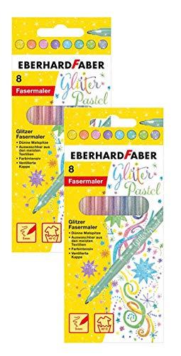 Eberhard Faber Rotuladores 551009 con purpurina en colores p