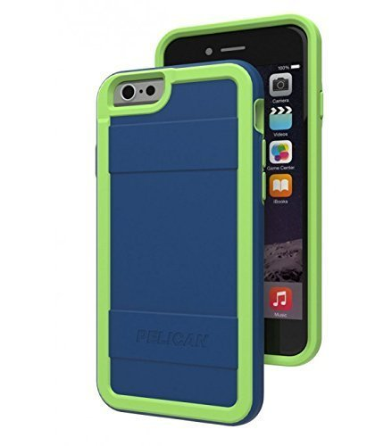 "Pelican Progear Protector Series for iPhone 6 (4.7"") - Retail Packaging - Navy Blue/Lime"
