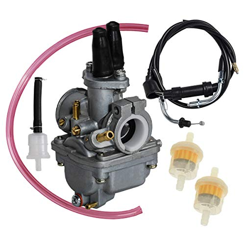 SaferCCTV Carburetor with Throttle Gas Cable, Carburetor Carb Replacement for Yamaha PW80 PW 80 Y Zinger Dirt Bike 1987 1988 1989 1990 1991 1992 1993 1994 1995 1996 1997 1998 1999 2000 2001 2002 2003
