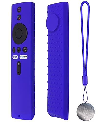 Silicone Case for Mi Box S, Mi Box S 4K,Xiaomi Mi TV Stick,Mi TV Stick Remote Contral Skin Magnet Technology, Shock Absorption Lightweight [Anti Slip] Shock Proof Silicone Cover(Blue)