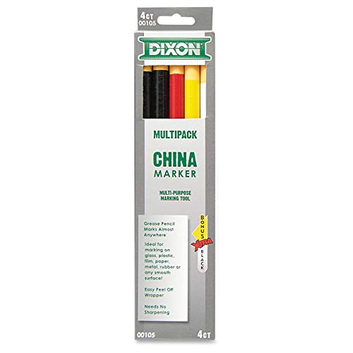 Dixon Phano China Marker, Black/Red/White/Yellow, Bonus Black (00105)