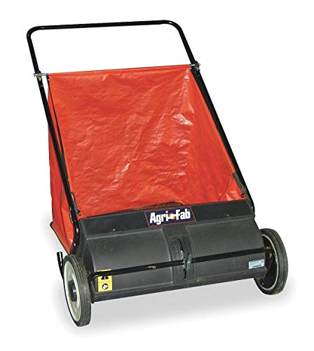 Agri-Fab 26' Push Lawn Sweeper, 7 cu. ft, Vinyl, Height Adjustment 0 to 2-1/4' - 45-0218