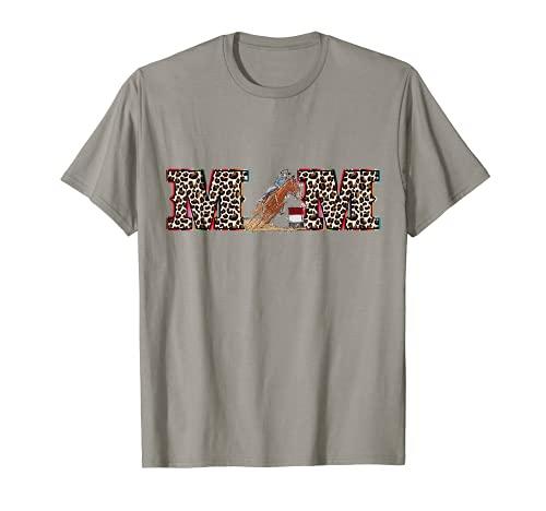 Serape Leopard pattern Rodeo Cowgirl Horse Barrel Racing Mom T-Shirt