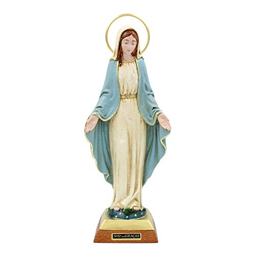 FARPortugal 12 Inches Hand-Painted Our Lady of Graces Religious Figurine Statue