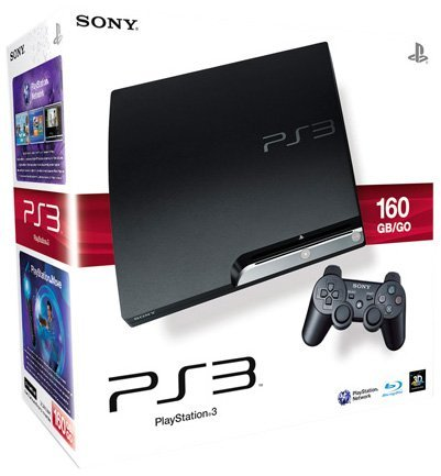 PlayStation 3 - Konsole Slim 160 GB (K-Model) inkl. Dual Shock 3 Wireless Controller