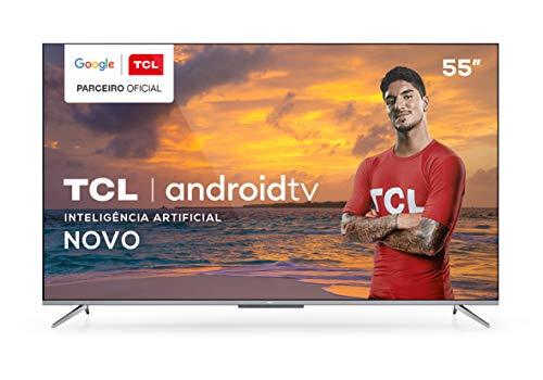 "Smart TV TCL LED Ultra HD 4K 55"" Android TV com Google Assistant, Borda Ultrafina e Wi-Fi - 55P715"