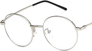 Unisex Glasses Frame Retro Gold Pink Round Full Frame Decoration Prescription Glasses