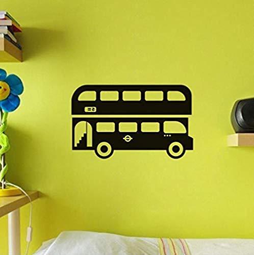 Muurstickers Art Decal Vinyl Murals Londen Bus voor Kids Kamers Hoge Kwaliteit Bus Papier Home Decor Waterdicht 61X44cm