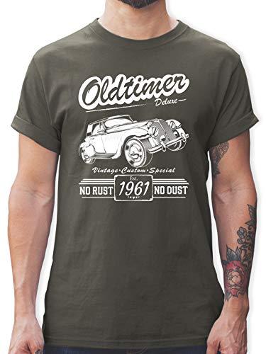 Geburtstag - 60. Geburtstag Oldtimer Baujahr 1961 - XXL - Dunkelgrau - t-Shirt 1959 - L190 - Tshirt Herren und Männer T-Shirts