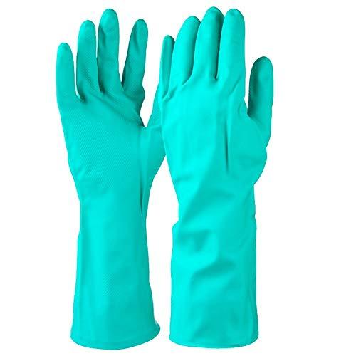 Hong-wei Handschuhe Arbeit 5 Paare, Handschuhe verschleißfeste Ölbeständiges Säurefeste Hausarbeit Arbeitshandschuhe Fitness Handschuhe Damen (Color : Green, Size : L)