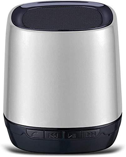 Mopoq Wireless Bluetooth Lautsprecher Audio - Subwoofer Auto Bewegliche Mini drahtlose Telefonkarte Kleine Lautsprecher Kleine Lautsprecher / 62X62X65mm Lautsprecher (Color : Weiß)