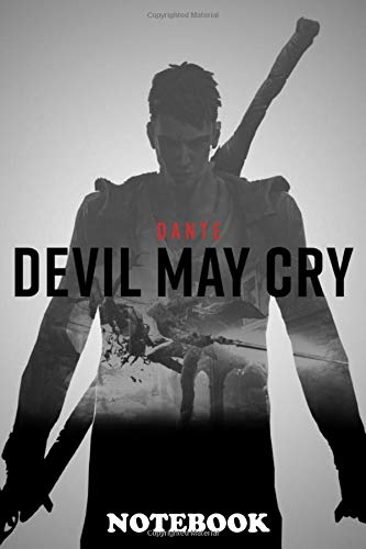 """Notebook: Poster From The Video Game Devil May Cry Dmc , Journal for Writing, College Ruled Size 6"""" x 9"""", 110 Pages"""