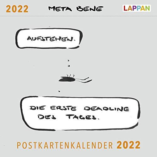 meta bene Postkartenkalender 2022: Aufstehen. Die erste Deadline des Tages.