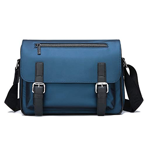 FANDARE Bolsos Bandolera Hombre Bolsa de Hombro Messenger Bag Bolsa Bolsa de Viaje Escolares Messenger Bag Impermeable Nylon Azul