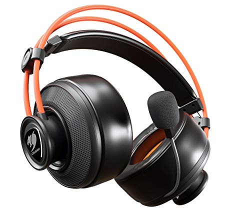Cougar Immersa Ti Gaming-Headset – Mikrofon und Lautstärkeregler – leicht – Kopfhörer mit Geräuschunterdrückung – 3,5 m Telefonstecker für PC-Gaming, PS4 (3H300P40T.0001)