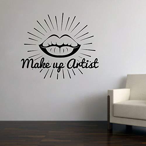 ASFGA Salón Belleza Tatuajes Pared Labial lápiz